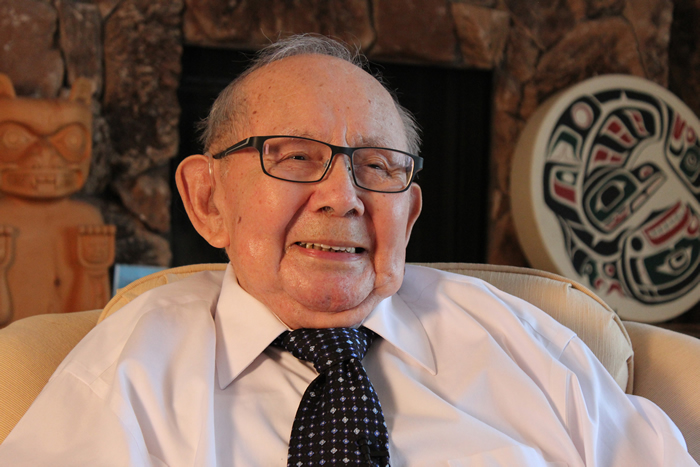 The Honourable Alfred J. Scow at his home in September 2012.