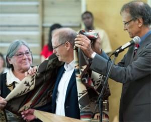 Dr. David Farrar, Blanketing Ceremony Photo Credit: Don Erhardt