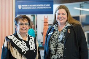 Elder Jewel Thomas, Musqueam, and Dana-Lyn Mackenzie, Hwlitsum, Associate Director, ILSP