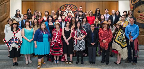 UBC Aboriginal Grads at the 2016 FNHL Graduation Celebration