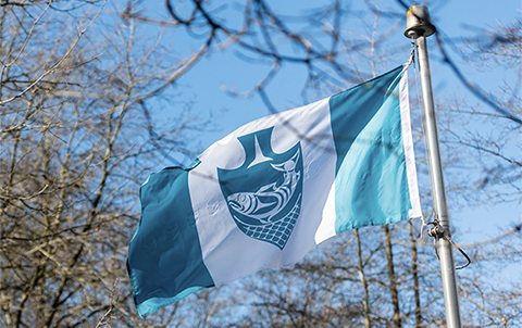 The Musqueam flag was raised at UBC on February 25, 2019.